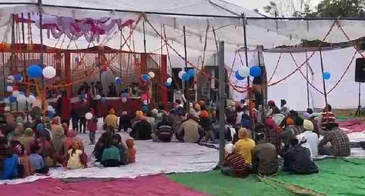 बिलासपुर के हरैया कलां गुरुद्वारे में श्री गुरु गोविंद सिंह जी महाराज का प्रकाशोत्सव मनाती संगत