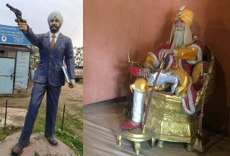 मोहाली में बने सिख संग्रहालय में लगी प्रतिमाएं।