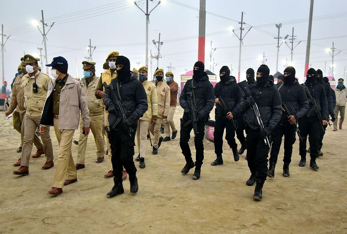 prayagraj news : माघ मेले में लगाई गई अर्धसैनिक बलों की ड्यूटी।