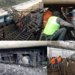 Pics of train derailment in Lucknow.