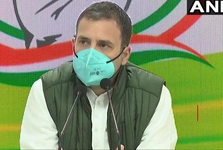 कांग्रेस ने जारी की बुकलेट 'खेती का खून', राहुल बोले- 'मैं मोदी से नहीं डरता, गुलाम बनने पर मानोगे मेरी बात'