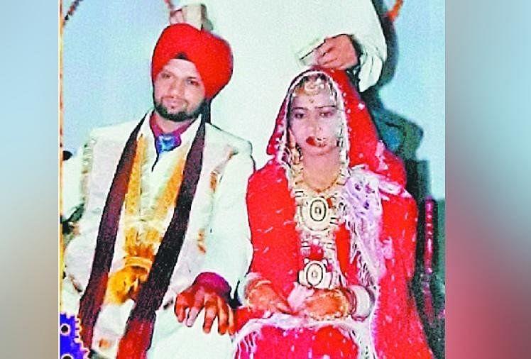 शहीद निर्मल सिंह अपनी पत्नी के साथ।