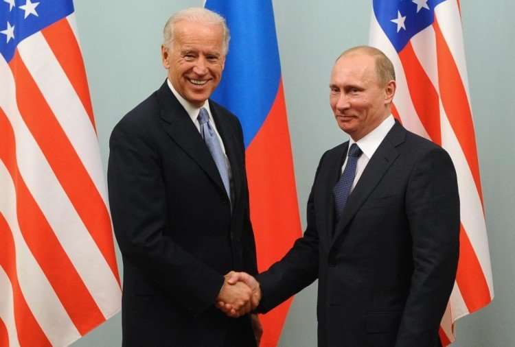 Joe Biden with Vladimir Putin