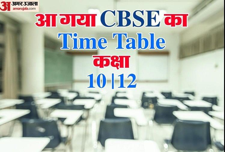 सीबीएसई : 10वीं और 12वीं बोर्ड परीक्षा 2021 की संशोधित डेट शीट जारी