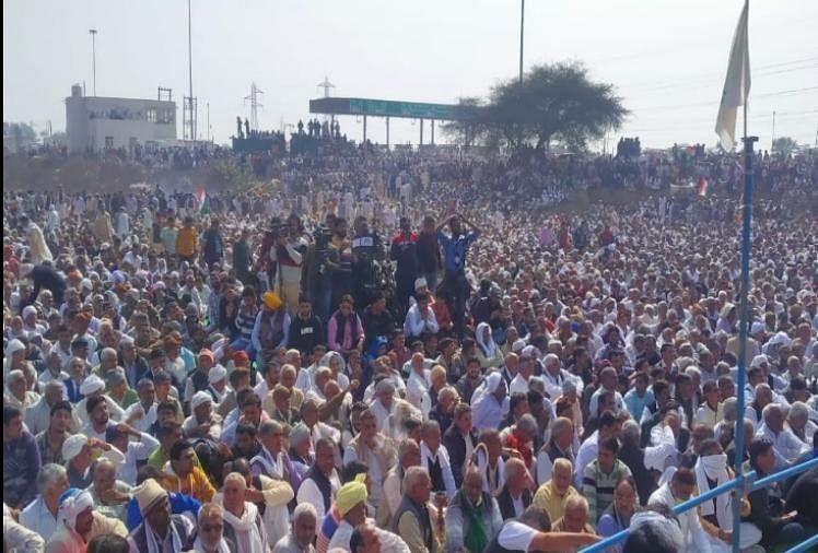 हरियाणा में राकेश टिकैत की किसान महापंचायत, हजारों की भीड़ उमड़ी, पांच प्रस्ताव भी पारित