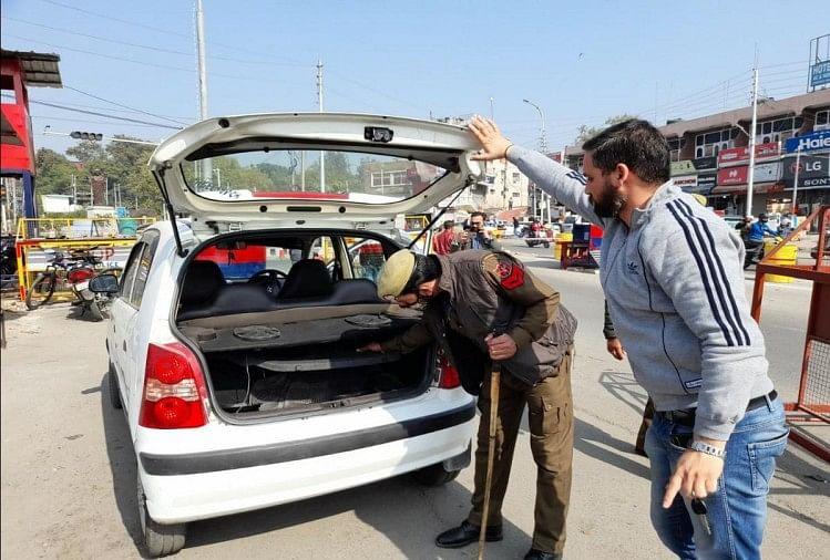 Jammu Kashmir: शहर में चलाया जा रहा तलाशी अभियान
