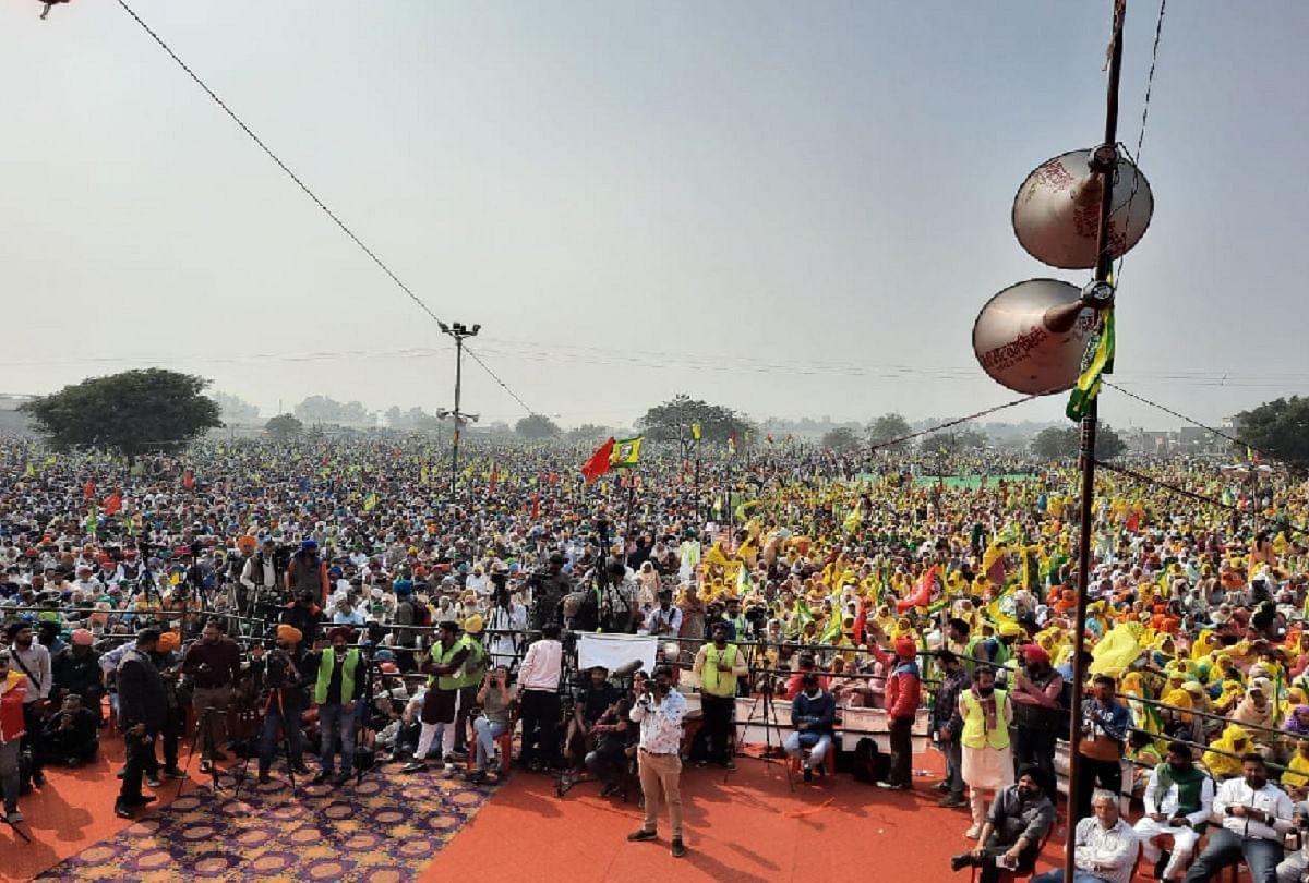 Image result for कृषि कानूनों के खिलाफ आंदोलन को मजबूती देने के लिए भारतीय किसान यूनियन एकता उगराहां और पंजाब खेत मजदूर यूनियन ने रविवार को बरनाला की अनाज मंडी में किसान-मजदूर एकता महारैली