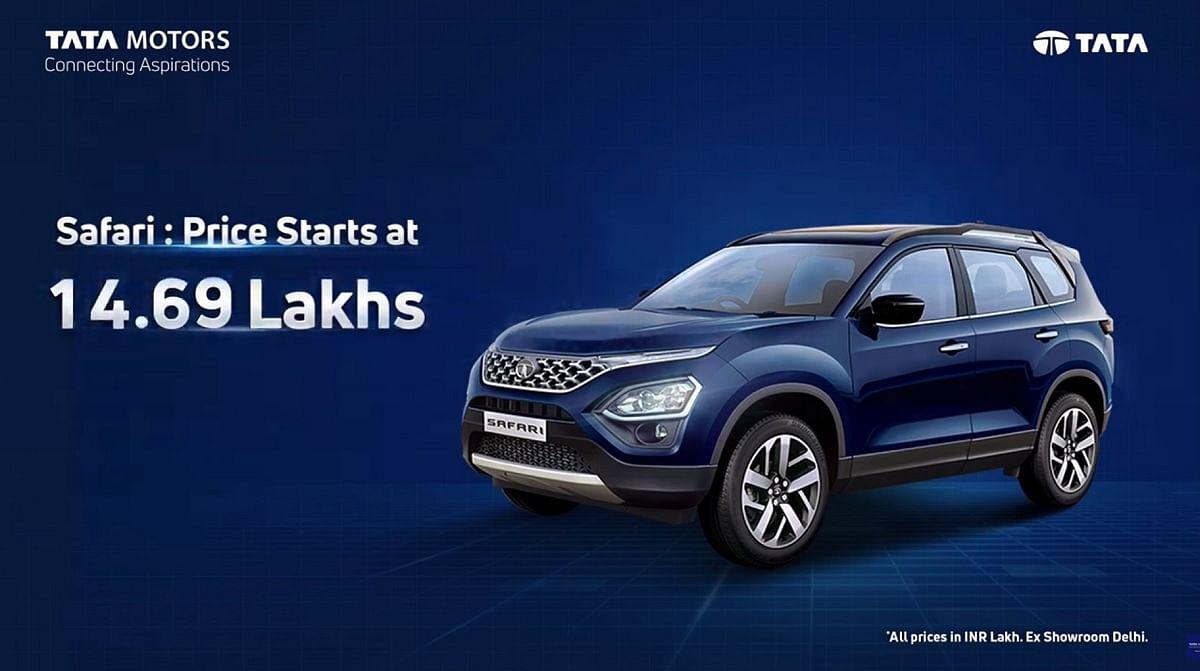 All New Tata Safari 2021 Launch In India, Price Starts From Rs 14.69 Lakh -  लॉन्च हुई नई Tata Safari 2021, कीमत 14.69 लाख रुपये से शुरू, जानें फीचर्स  के बारे में... -
