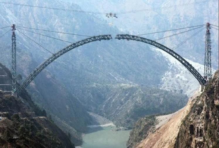 दुनिया का सबसे ऊंचा रेल पुल चिनाब नदी पर बन रहा है, मार्च में तैयार होने की उम्मीद