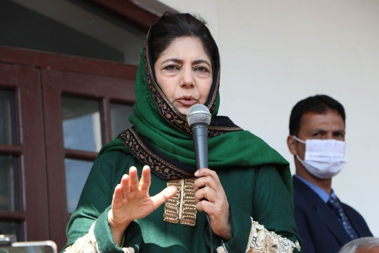 Raising stones and guns is not the solution to the problem: Mehbooba