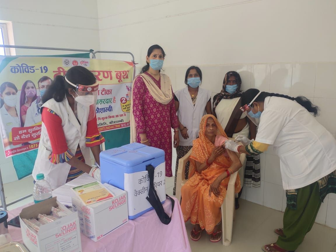 Target four thousand, 965 elderly arrived to get vaccinated