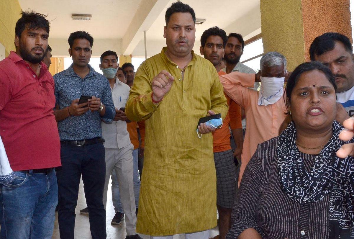 अस्पताल में भाजपा कार्यकर्ता