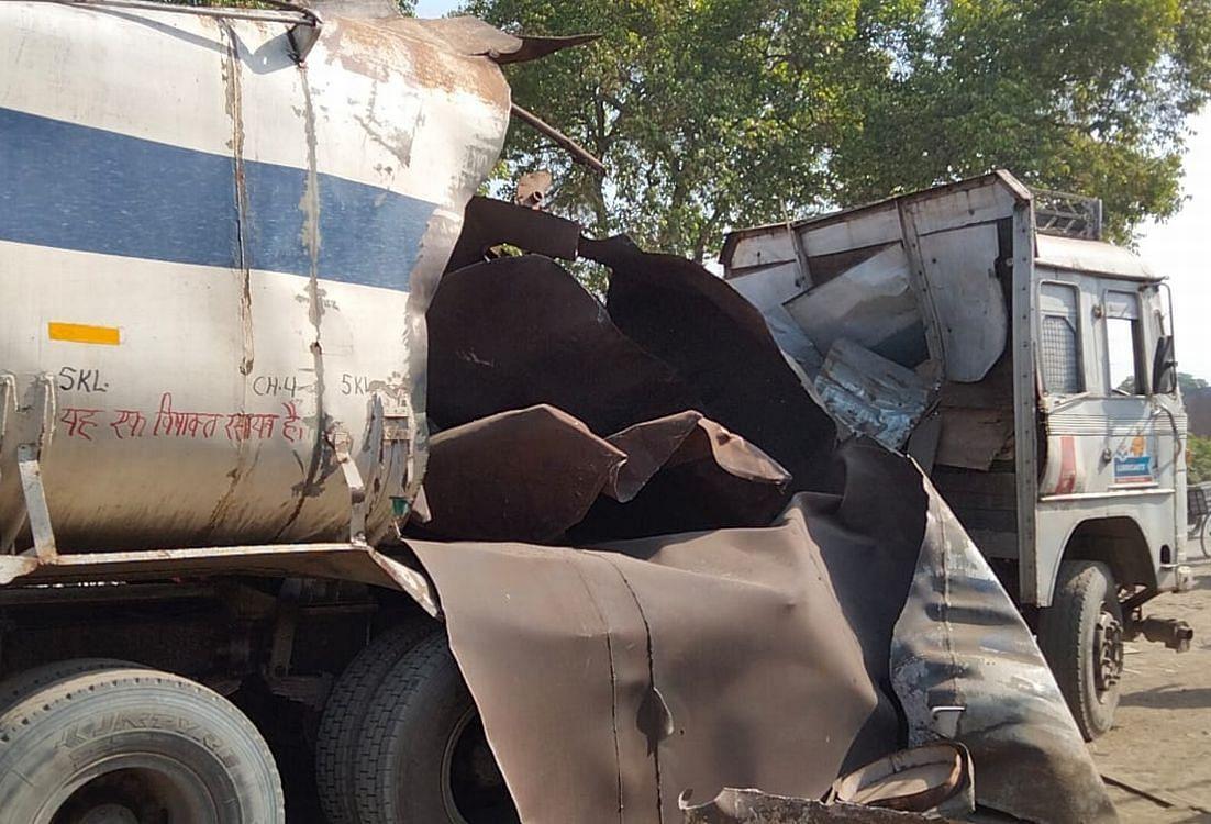 काशीपुर में विस्फोट के कारण तेज धमाके के साथ फटा टैंकर।