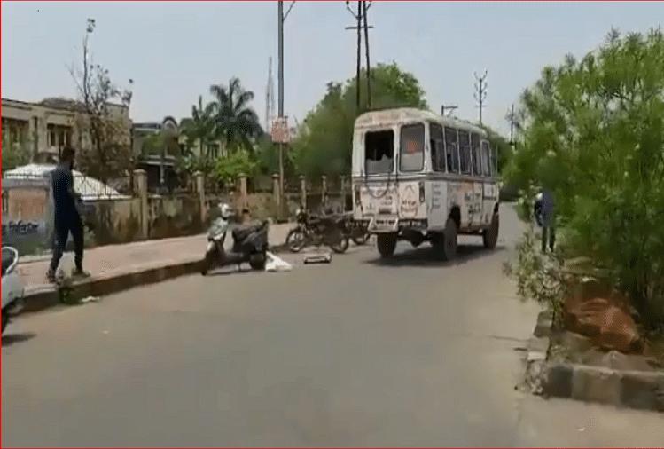 मध्यप्रदेश: कोविद -19 मरीज की लाश लाश से गिरी
