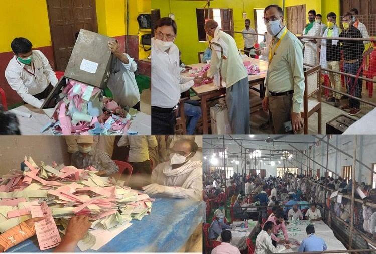 Khaskhabar/बिधूना ब्लाक में 10 ग्राम पंचायतों में मुडियाई पंचायत की प्रधानी में दो दावेदारों को एक सामान्य वोट मिले। 306-306 वोट दोनों दावेदारों को मिले। जिस कारण दोबारा मतपत्रों की गिनती में रिजेक्ट मतपत्र की