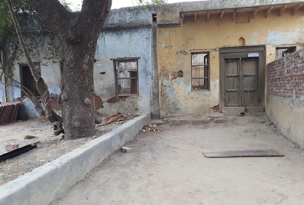 Justice Dharamvir Sharma's dilapidated house.