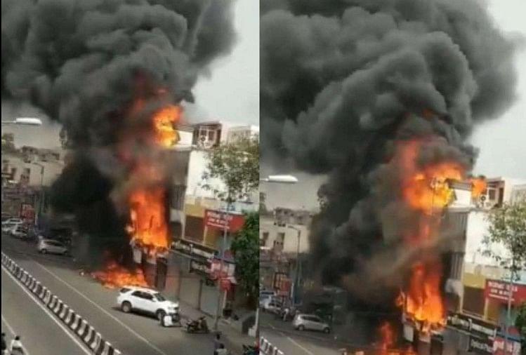 दिल्ली लाजपत नगर आग