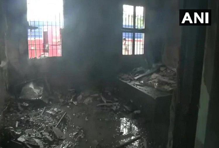 पटना में मंत्री आवास में लगी आग