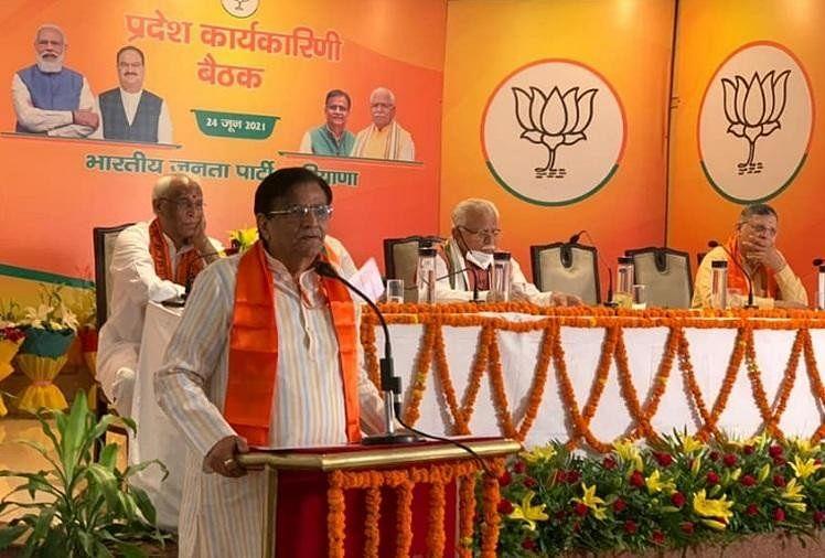 प्रदेश कार्यकारिणी की बैठक: एक सुर में मंत्री बोले- किसान आंदोलन का चरम हुआ समाप्त, अब सिर्फ राजनीति हावी