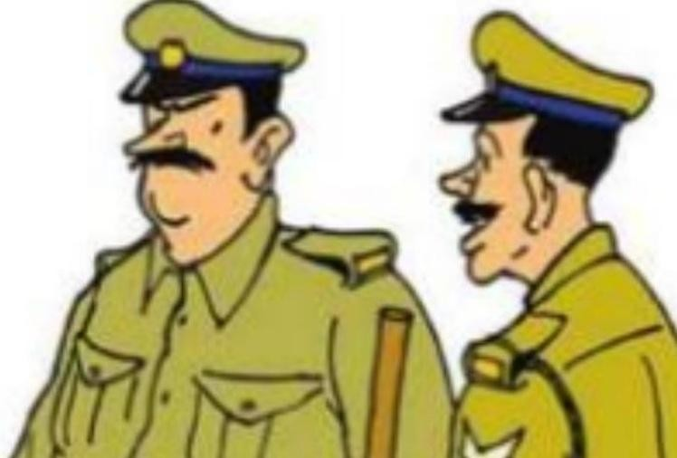शराब माफिया ने पुलिस कर्मियों से भरी जिप्सी को टक्कर मार खाई में गिराई, तीन पुलिसवाले चोटिल