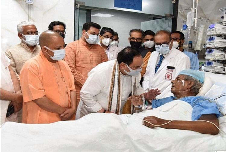 बीते दिनों अस्पताल पहुंचकर भाजपा अध्यक्ष जेपी नड्डा व सीएम योगी ने की थी कल्याण सिंह से मुलाकात