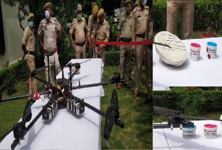 साजिश नाकाम: जम्मू-कश्मीर में पुलिस ने मार गिराया ड्रोन, पांच किलो आईईडी बरामद
