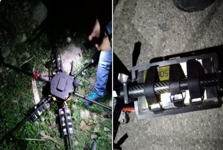 आतंकी साजिश नाकाम: जम्मू-कश्मीर में पुलिस ने मार गिराया ड्रोन, पांच किलो आईईडी बरामद
