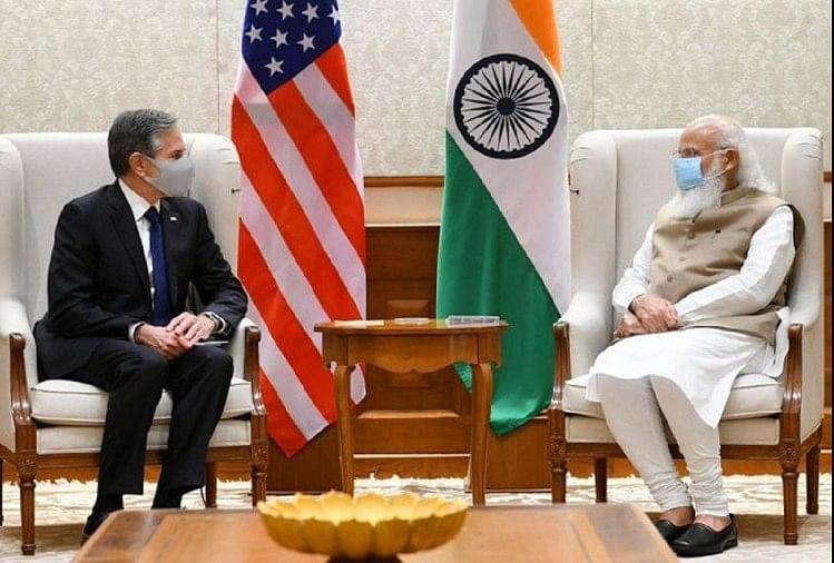 Blinken Meets Pm Modi: Welcomes President Bidens Strong Commitment To  Strengthening India-us Strategic Partnership - पीएम मोदी से मिले ब्लिंकन:  भारत-अमेरिकी साझेदारी मजबूत करने की राष्ट्रपति ...