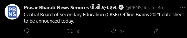 Prasar Bharti Tweet