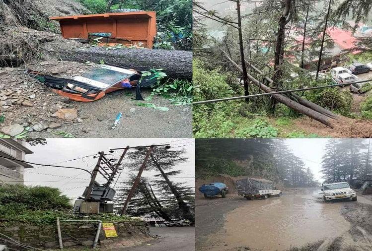 व्यापक नुकसान : बारिश से कई जगह पेड़ गिरे, गाड़ियों को नुकसान, बिजली आपूर्ति ठप