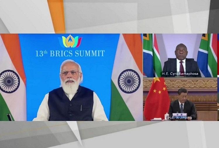 13वां ब्रिक्स शिखर सम्मेलन: प्रधानमंत्री नरेंद्र मोदी।