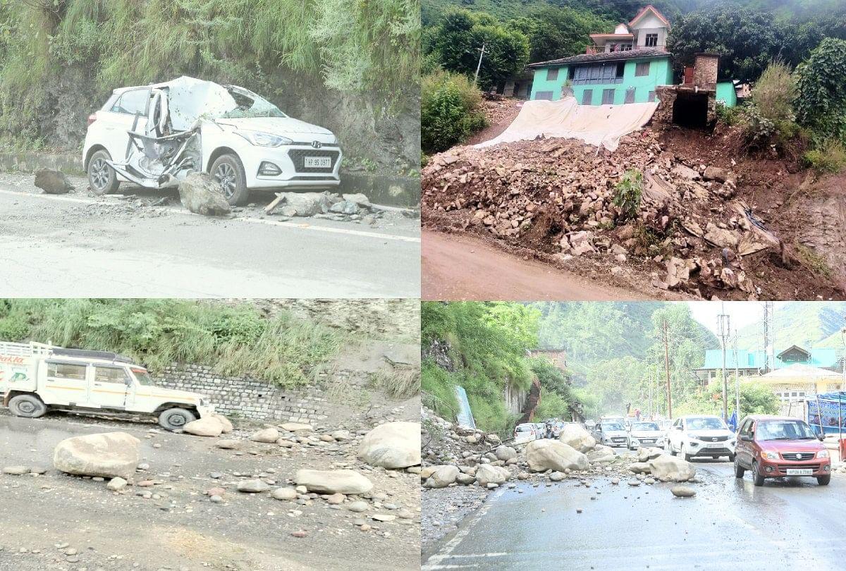 Himachal Weather Update: Highway Interrupted Due To Heavy Rainfall In  Rampur, Boulders Fell On Six Vehicles, Five Houses Damaged - हिमाचल में  भारी बारिश का कहर: भूस्खलन से एनएच बंद, छह वाहनों