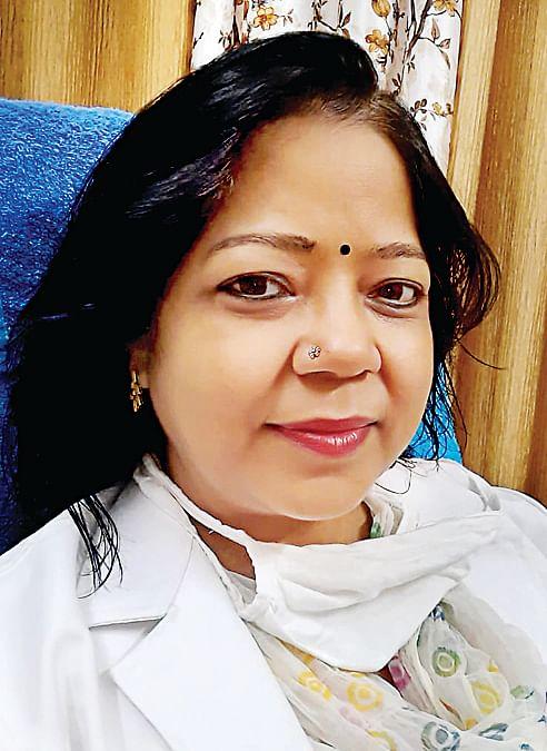 क्वीन मेरी में वरिष्ठ स्त्री एंव प्रसूति रोग विशेषज्ञ डॉक्टर पुष्पलता शंखवार।