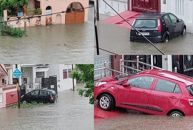 लखनऊ: भारी बारिश के बीच जिलाधिकारी की अपील- घरों से बाहर न निकलें, जारी किए हेल्पलाइन नंबर