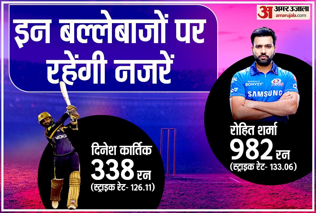 आईपीएल 2021 में मुंबई vs कोलकाता