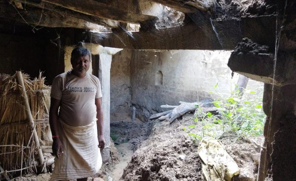 Then came the rain of calamity: kutcha houses collapsed, old man died
