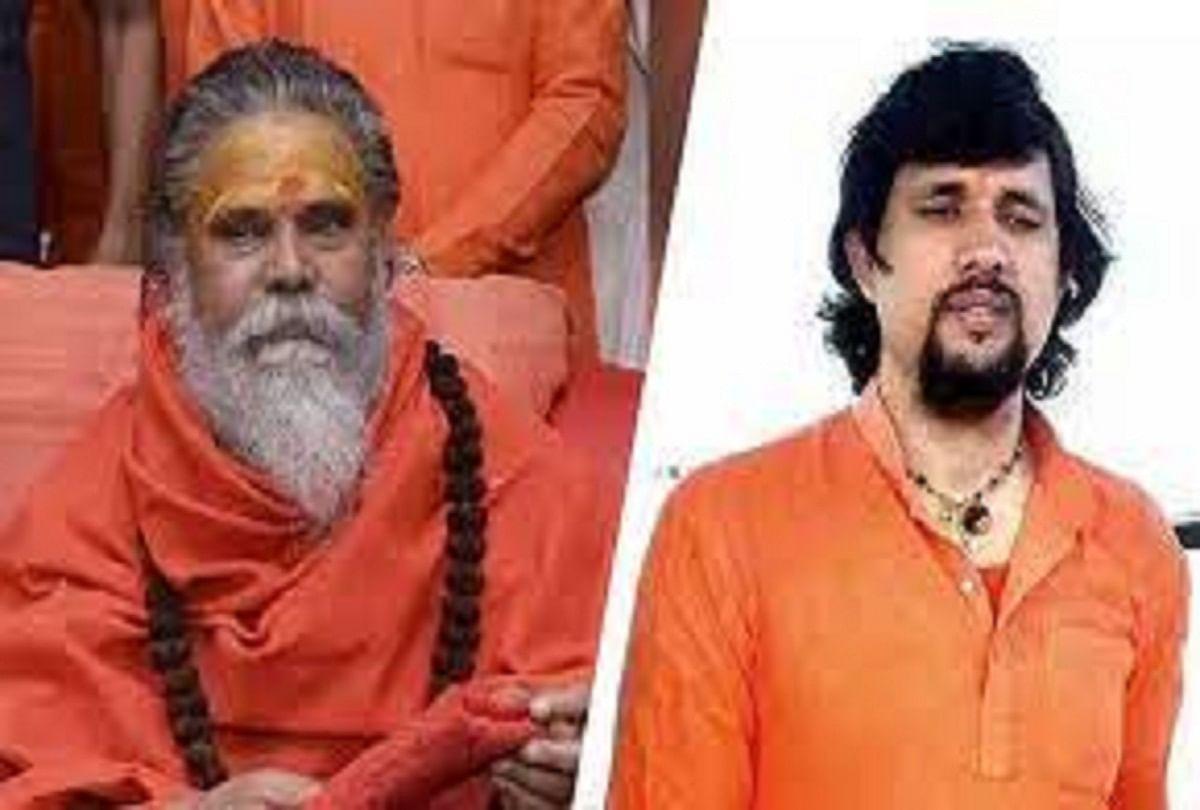 Prayagraj News: Mahant Narendra Giri and Yoga Guru Anand Giri.  file photo
