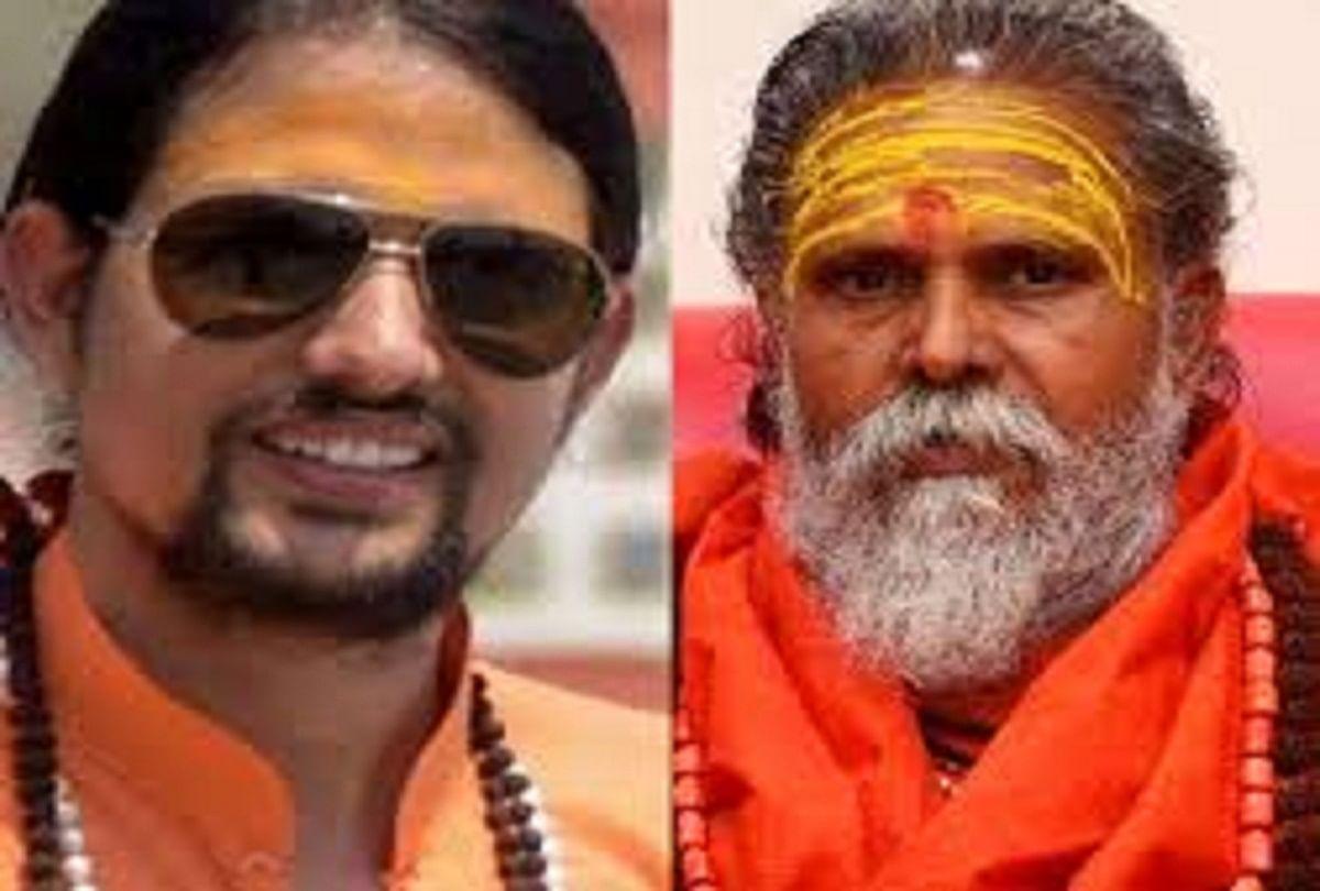 Prayagraj News: Yoga Guru Anand Giri and Mahant Narendra Giri.  file photo