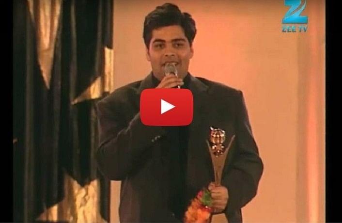 12 year old Sonakshi Sinha gave best debut director award to Karan Johar