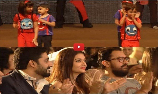Cute video of Aaradhya and Azad's dancing in their school function