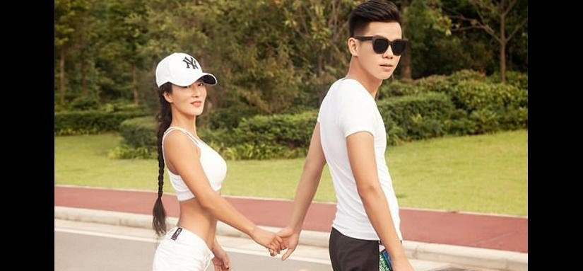 Super-fit mother Liu Yelin looks so young people think her 22-year-old son is her boyfriend