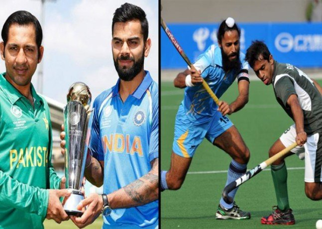 hockey and Cricket Result in the contest of India