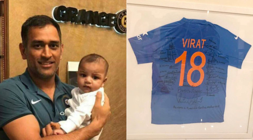 Viral & trending: #ChampionsTrophy: MS Dhoni wins hearts with picture of Sarfaraz's son