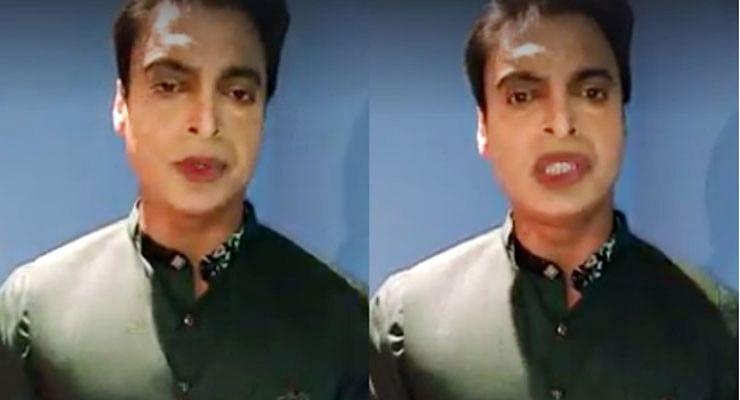 Shoeb Akhtar Wearing Lipstick And Kazal In Backstage Of Geo