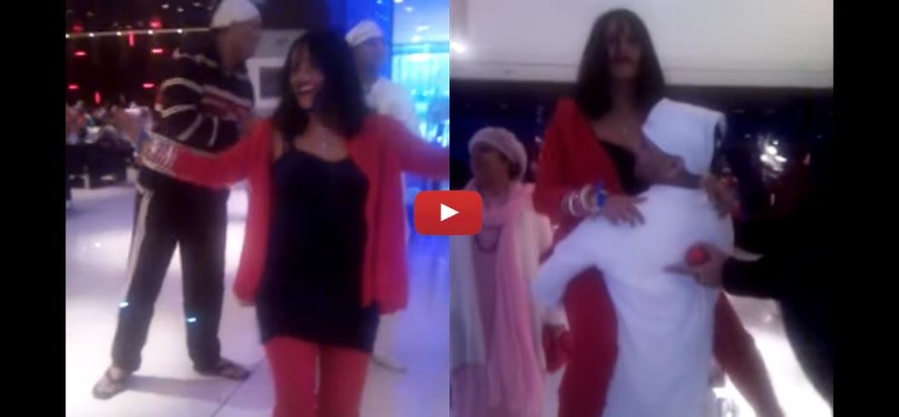 Radhey Maa dance video on lap of Talli Baba Goes Viral