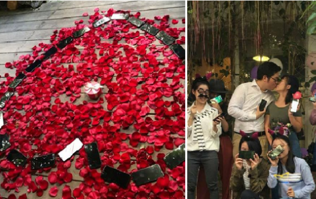 Man Proposes to Girlfriend Using 25 iPhone Xs in china