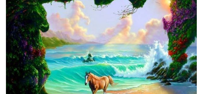 take challenge and Find out 6 horses in this picture, social media viral