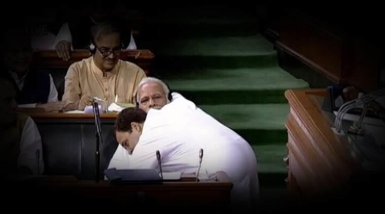 Rahul Gandhi Hugs PM Modi, Funny Video goes viral on social Media
