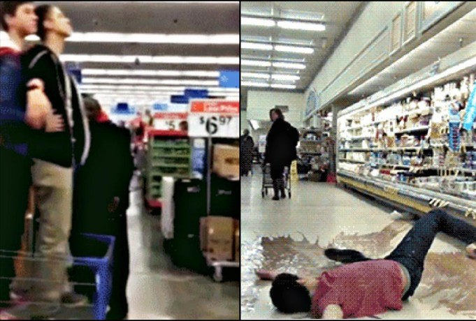 Funny video and gifs when bad things happen in grocery stores