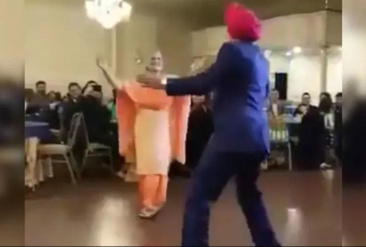 Sardar ji strange danced with his wife on 50th anniversary of marriage, family got amaze